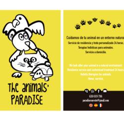 animales tarjeta de visita diseño gráfico logo